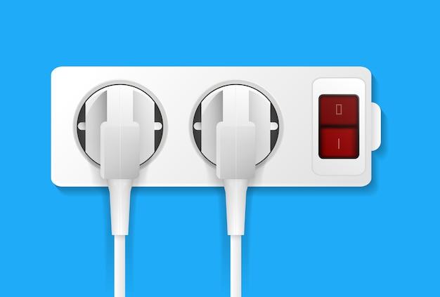 Prise électrique réaliste avec des fiches