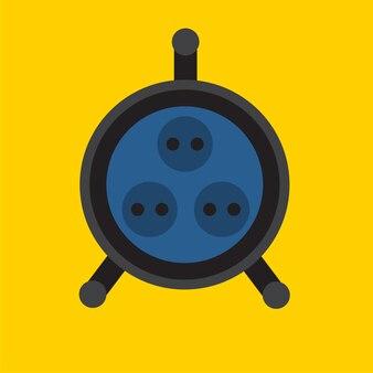 Prise plate icône illustration isolé vecteur signe symbole