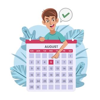 Prise de rendez-vous avec calendrier
