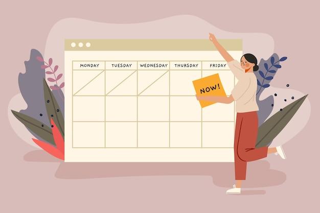 Prise de rendez-vous avec concept de calendrier