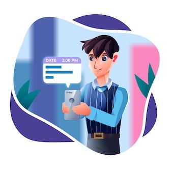 Prise de rendez-vous sur concept mobile