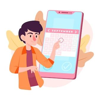 Prise de rendez-vous avec smartphone