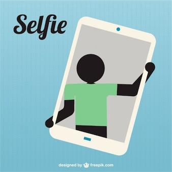 Prise de silhouette selfie icône