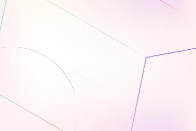 Prisme hexagonal géométrique rose