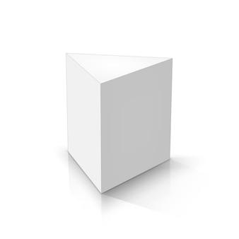 Prisme Triangulaire Blanc Vecteur Premium