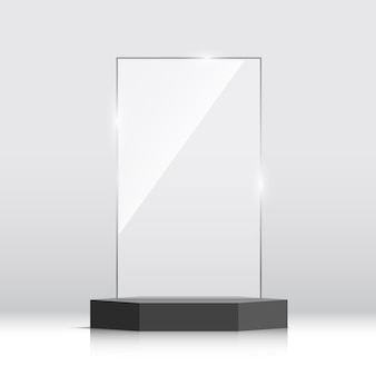 Prix du trophée de verre vide. illustration.