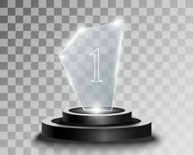 Prix du verre. statuette pour le gagnant.