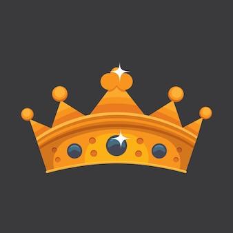 Prix de l'icône de la couronne pour les gagnants, les champions, le leadership. roi royal, reine, couronne de princesse.