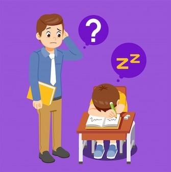 Le problème que les étudiants dorment en classe.