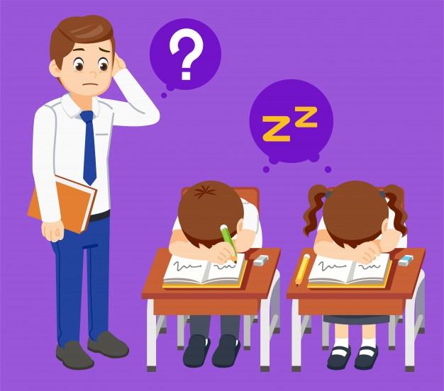 Problème que les étudiants dorment dans la salle de classe.