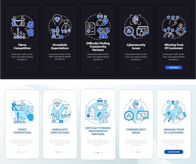 Problèmes de démarrage lors de l'intégration de l'écran de la page de l'application mobile