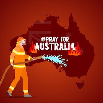 Problèmes d'incendie de forêt en australie illustration
