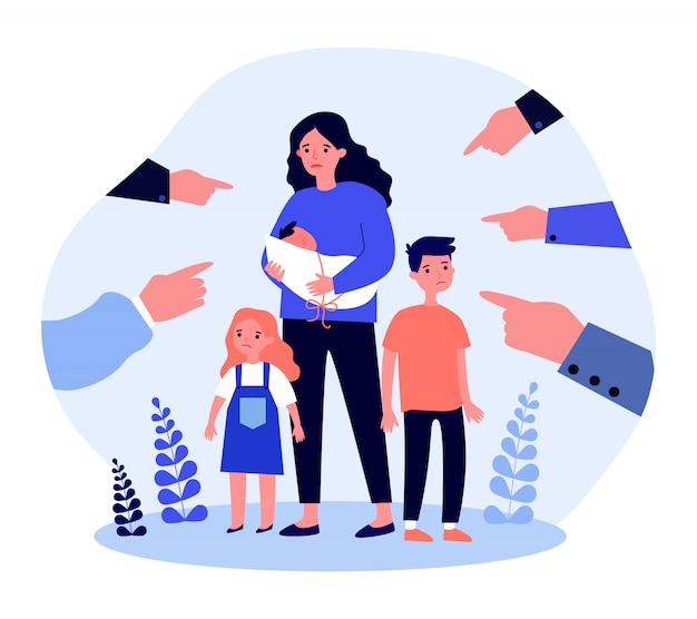 Problèmes sociaux de mère célibataire