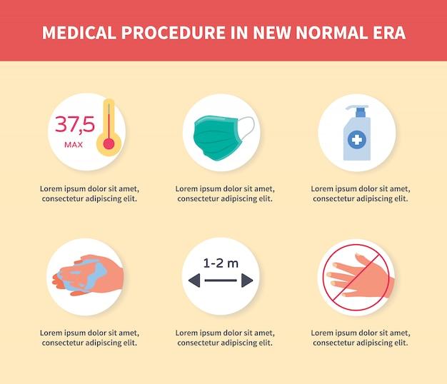 Procédure médicale dans la nouvelle campagne de l'ère normale pour la page d'accueil du site web