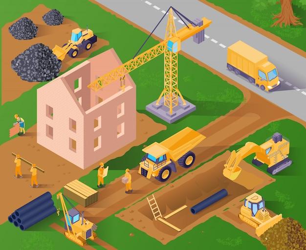 Processus de construction d'un bâtiment