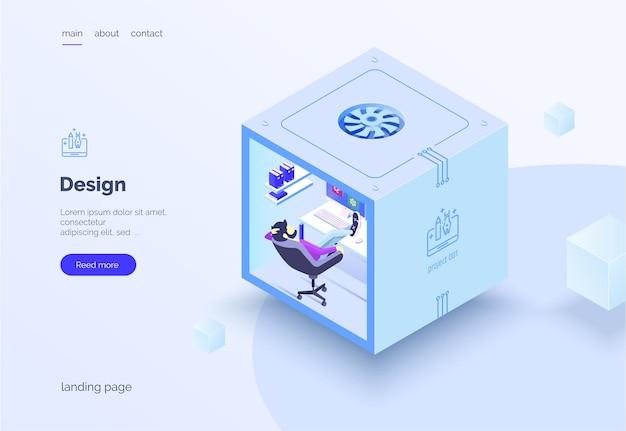 Processus créatif de conception web travail d'équipe un groupe de personnes dans le processus de travail