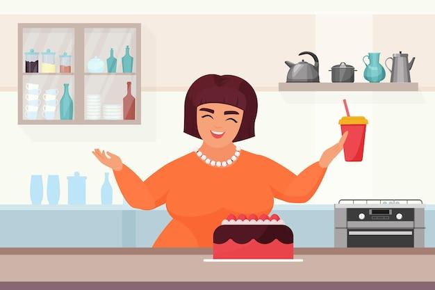 Processus de fabrication de gâteaux femme confiseur cuisson gâteau fait maison dessert au chocolat sucré