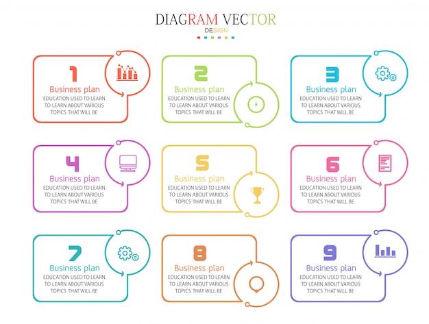Processus d'infographie, graphique d'informations de mise en page de présentations