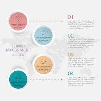 Processus infographique plat 4.
