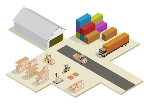 Processus isométrique de l'entrepôt