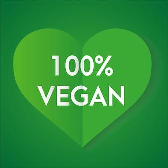 Produit biologique nature amour coeur vert vecteur