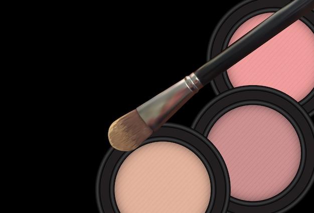 Produit de cosmétique design. 3d réaliste