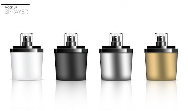 Produit cosmétique de soin de la peau du parfum 3d de jet de bouteille réaliste