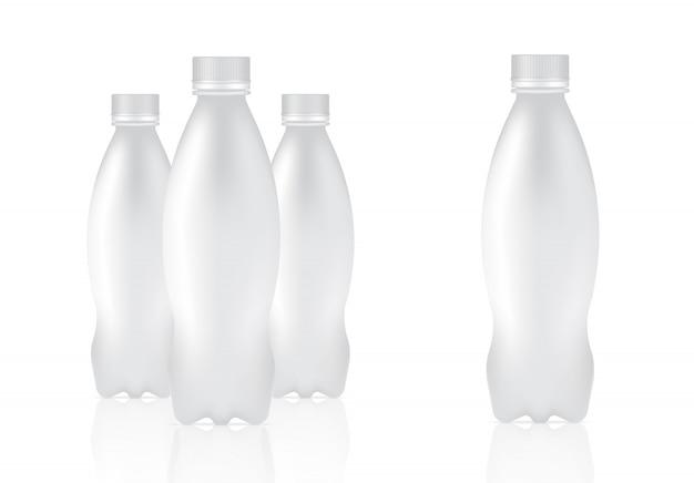 Produit d'emballage de bouteille en plastique réaliste