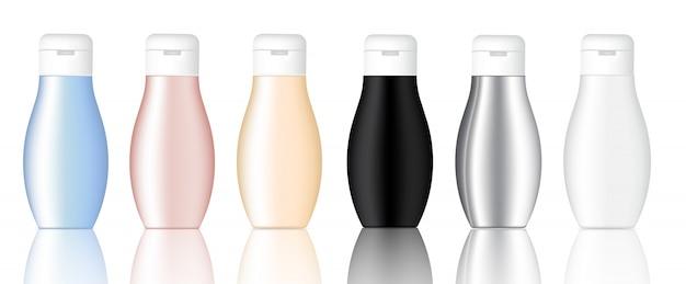 Produit d'emballage réaliste de maquette pour une bouteille de beauté cosmétique