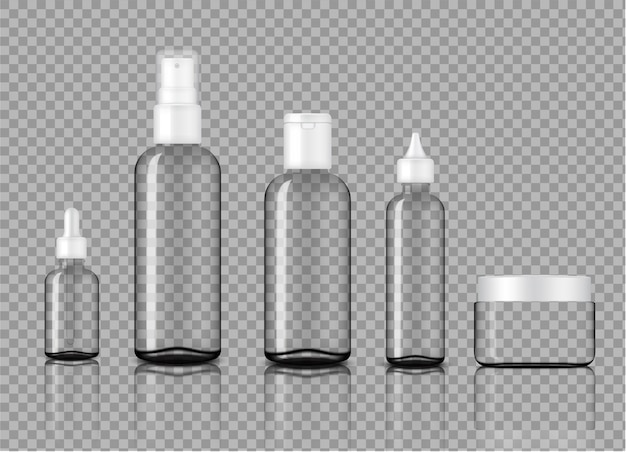 Produit maquette de bouteilles en verre transparent transparent