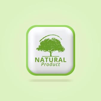 Produit naturel feuilles écologiques étiquettes icône verte conception d'étiquettes de produits frais biologiques purs 3