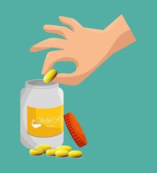 Produit omega 3 en bonne santé