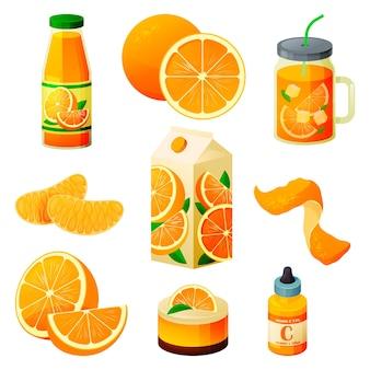 Produits alimentaires aux fruits orange