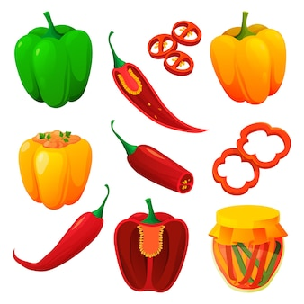 Produits alimentaires et végétaux au poivre