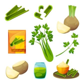 Produits alimentaires et végétaux à base de céleri