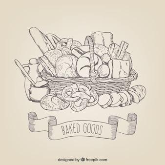 Produits de boulangerie dessins