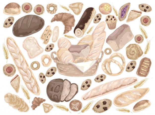 Les produits de boulangerie servent de nourriture.