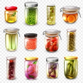 Produits en conserve mis en arrière-plan transparent