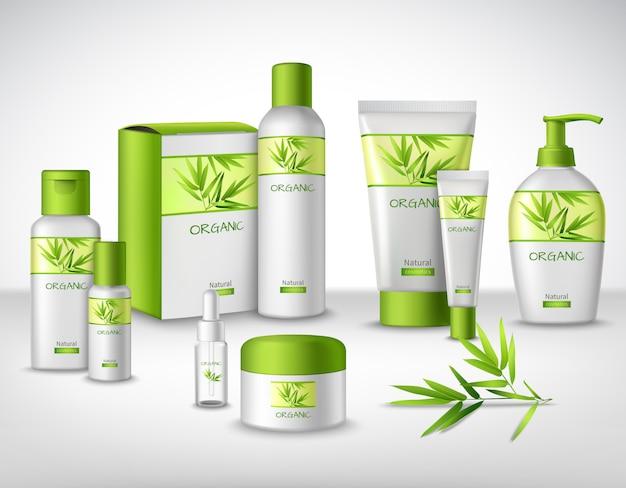 Produits cosmétiques à base de plantes en bambou naturel