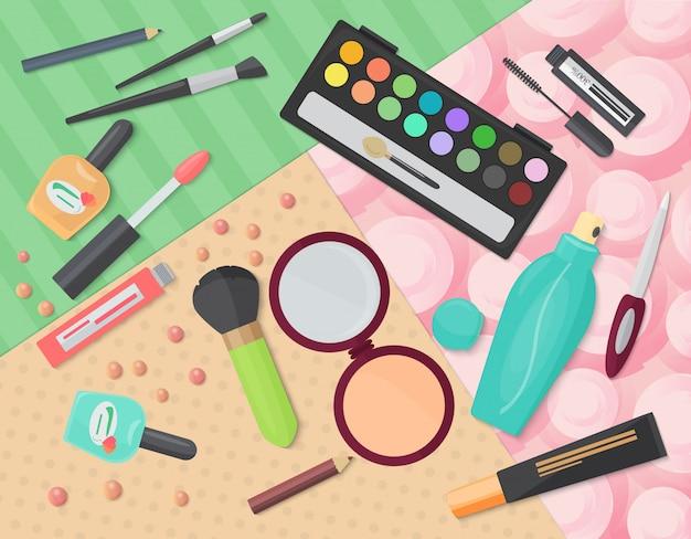 Produits cosmétiques décoratifs de maquillage