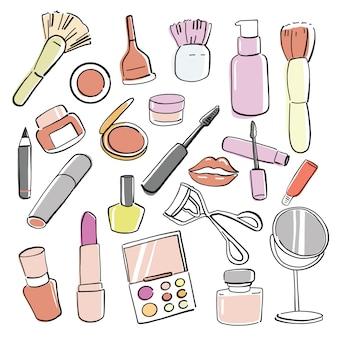 Produits cosmétiques dessinés à la main