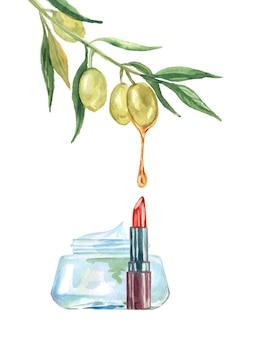 Produits cosmétiques avec des ingrédients naturels. fond de beauté de vecteur.