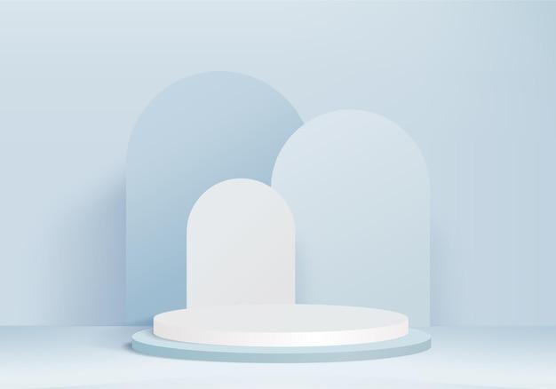 Les produits de fond 3d affichent une scène de podium avec une plate-forme géométrique
