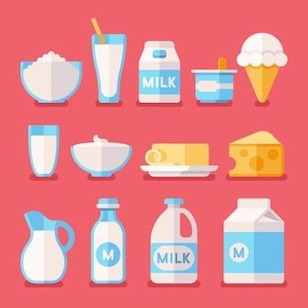 Produits laitiers, lait, yaourts, crème, produits à base de fromage