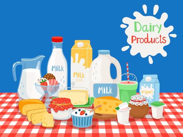 Produits laitiers et laitiers