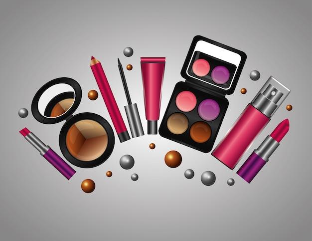Produits de maquillage cosmétiques de tube de crème de jet