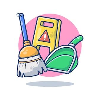 Produits de nettoyage isolés sur blanc