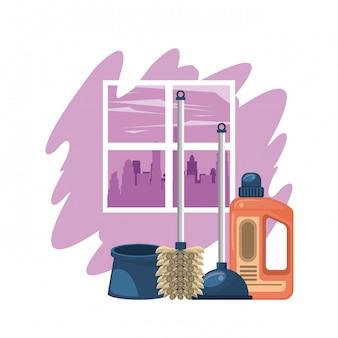 Produits de nettoyage pour dessins animés