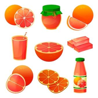 Produits de pamplemousse et de fruits
