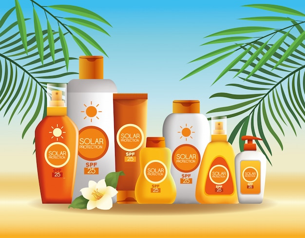 Produits de protection solaire pour l'été